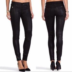Hudson stark moto black skinny jeans